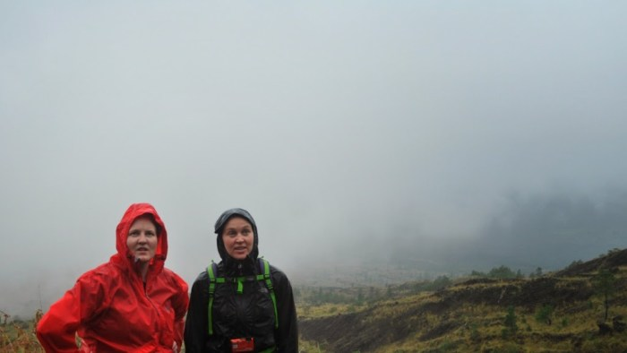 Hiking in the rain in Bali