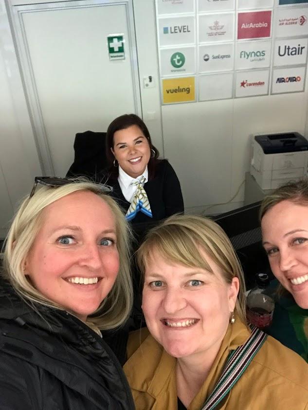 ticket agent in Vienna, Austria helping a trip to Europe cut short by Coronavirus