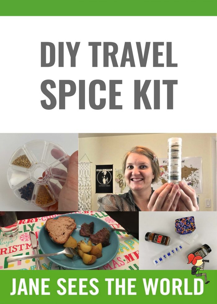 DIY travel spice kit Pinterest
