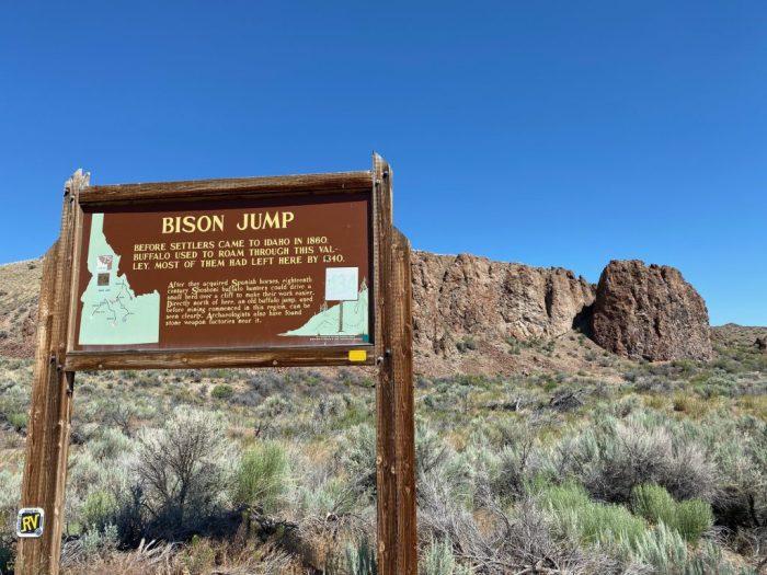 Bison Jump Challis Idaho