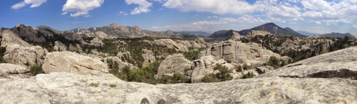 Panoramic views at City of Rocks National Reserve.