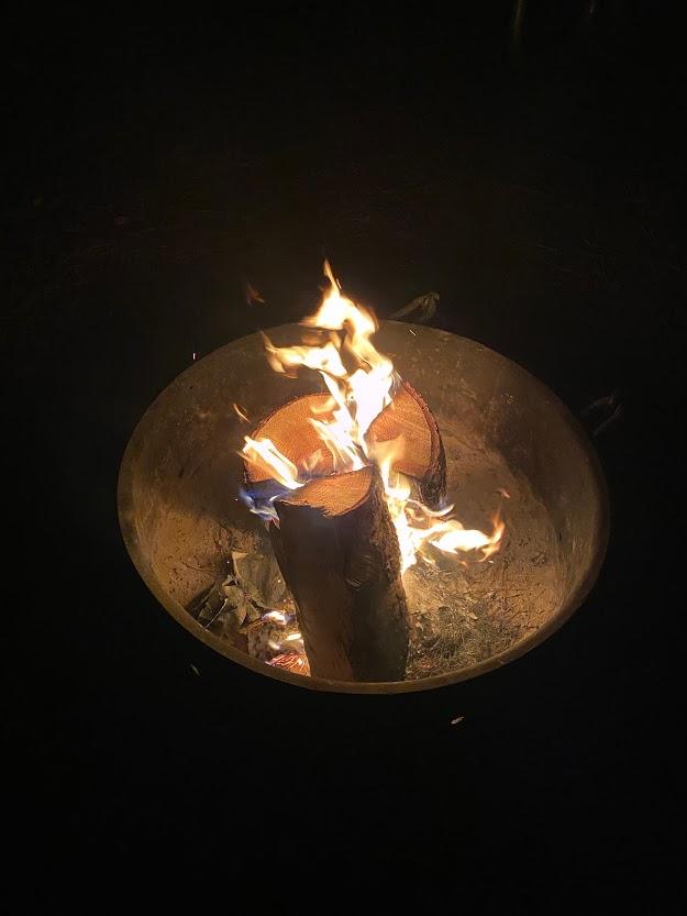 campfire at Dworshak State Park