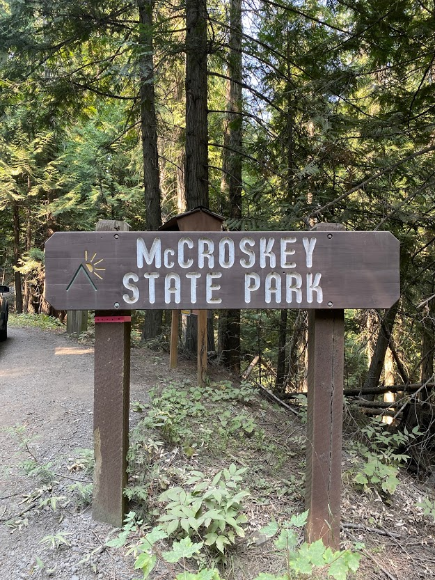 Mary McCroskey State Park sign