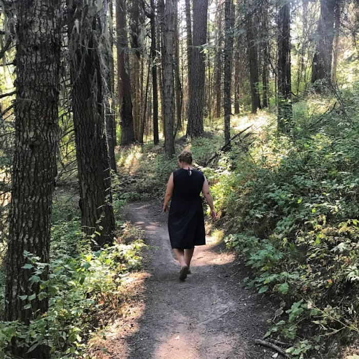 Nature walk in Mary McCroskey State Park