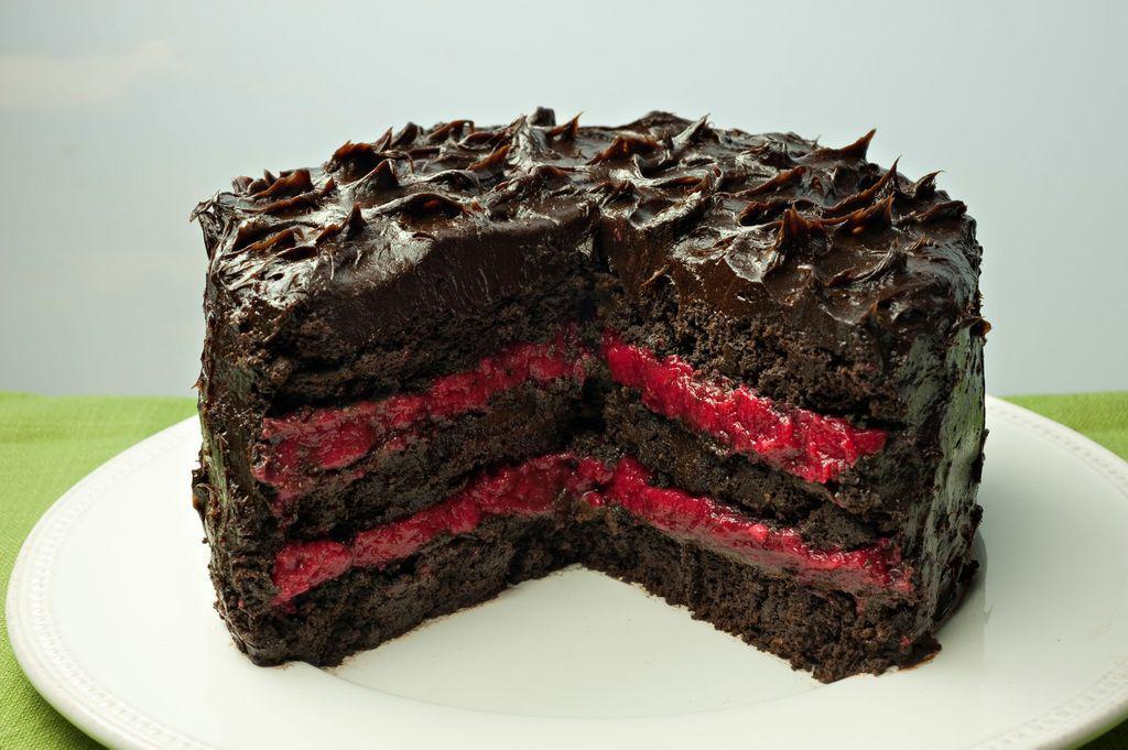 Paleo Chocolate Cake With Raspberry Filling Jane S
