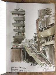 Staircase at the Barbican