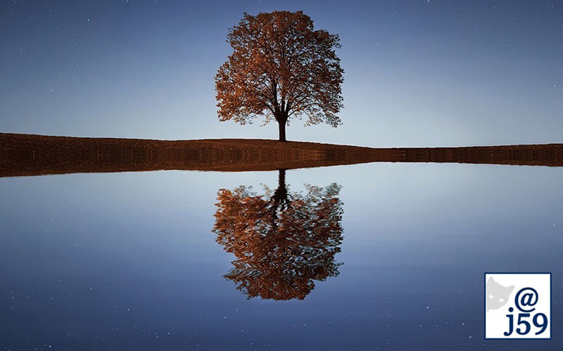 What you see with your eyes is a reflection of what's in your heart.