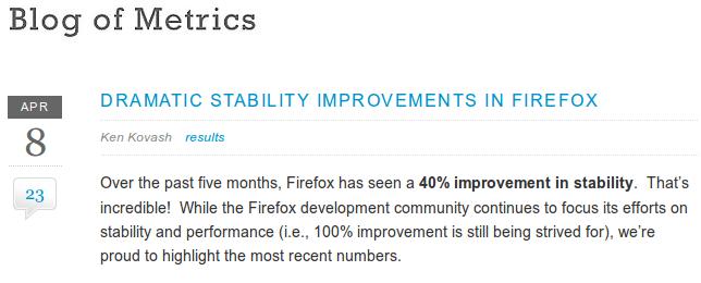 Firefox's instability