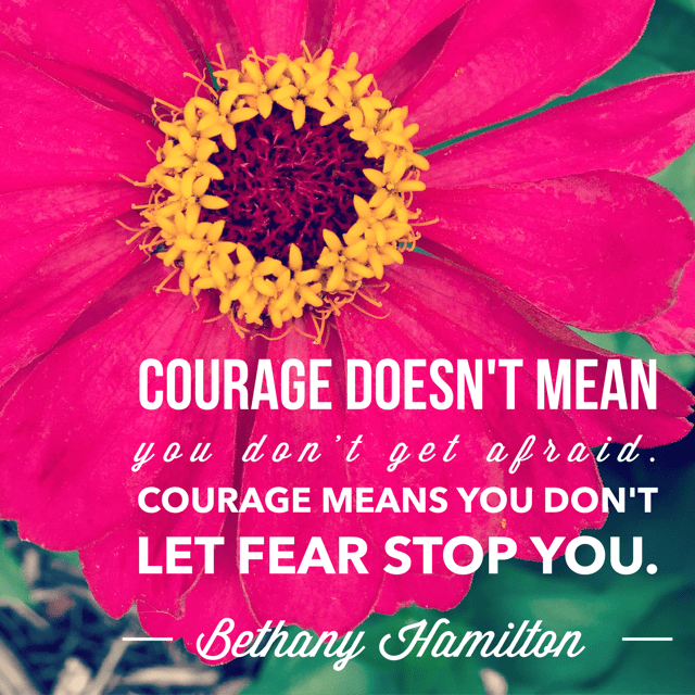 Inspirational Meme About Courage and Fear