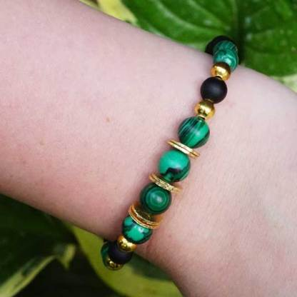 Green and Black Bead Bracelet