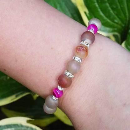 Druzy Pink and Peach Bracelet