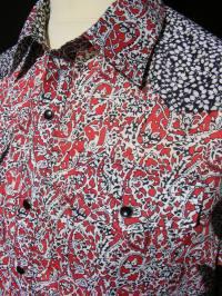Jim Lauderdale's shirt in Liberty 'Lagos Laurel' with yokes in 'Glenjade'