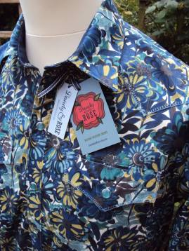 Shirt made for Jim Lauderdale in Liberty 'Willow Rose' https://dandyandrose.com/2014/08/04/willows-and-roses/