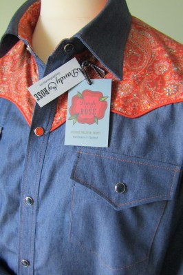Steve's shirt i Liberty's 'Orizaba' paisley and denim https://dandyandrose.com/2017/01/10/meant-to-be-together/