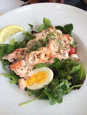 Shrimp salad lunch.