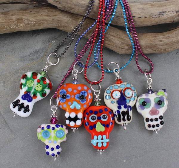 Sugar Skull Beads by Janet Crosby