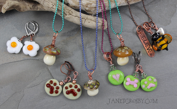 Handmade Lampwork Necklaces and Earrings