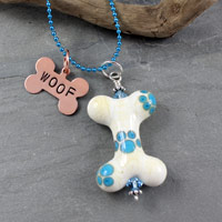 Dog Bone Bead - janetcrosby.com