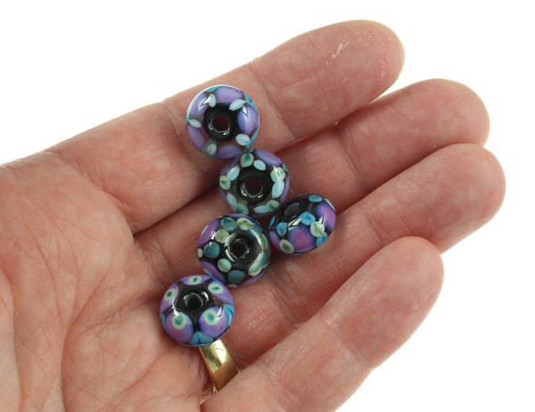 Crazy Quilt Bead Set by Janet Crosby