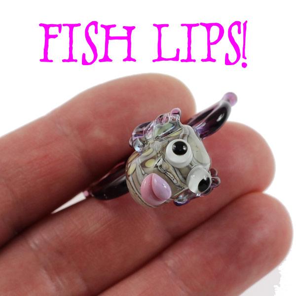 Deep Purple Sea Fish by Janet Crosby