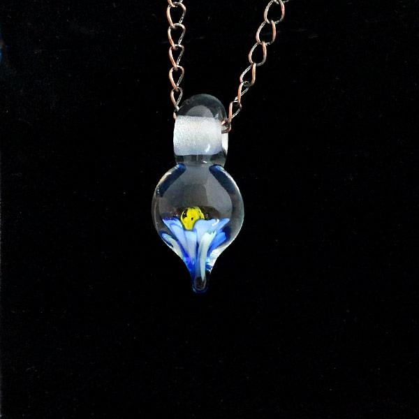 Cobalt Fire Flower by Janet Crosby