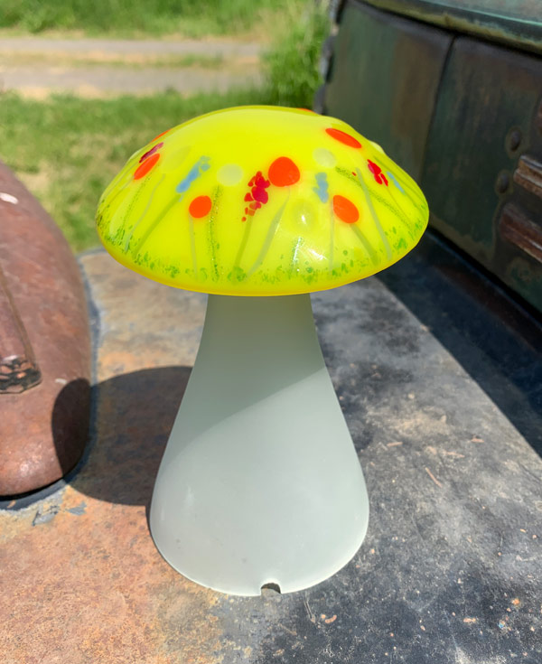 Yellow Wildflowers MushroomLamp by Janet Crosby