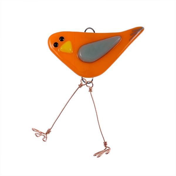 Fire Ice Mini Bird by Janet Crosby