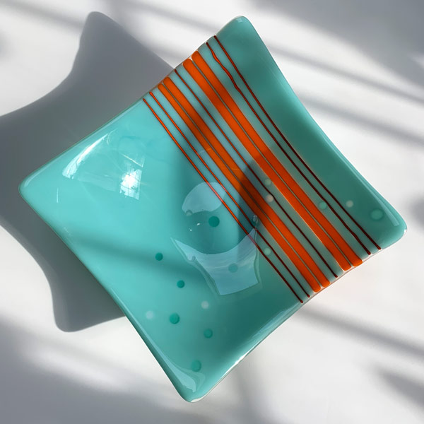 Large Bowl - Bubble Escape by Janet Crosby