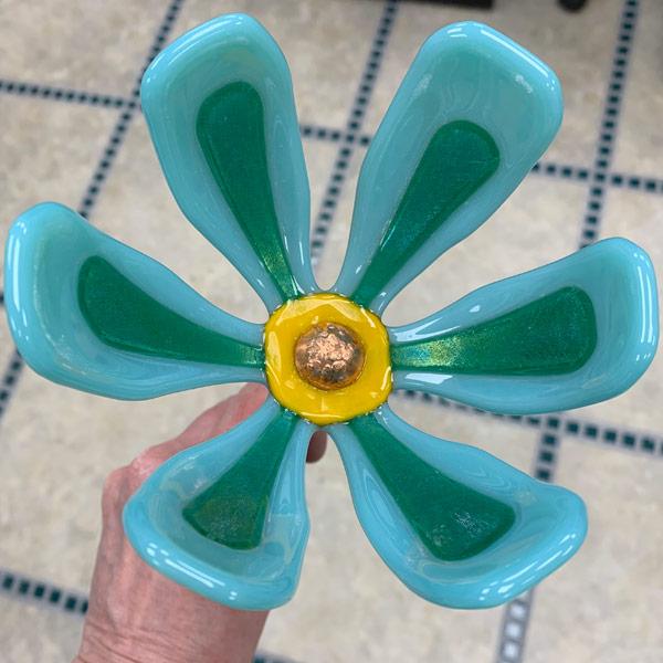 Garden Flower - Blue Green