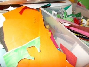 Collage materials at the Hatton