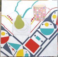 Geometric tablecloth pear mug - 5a