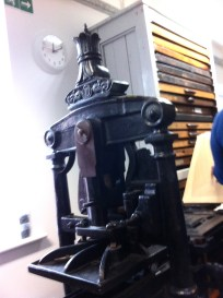 Part of the 19th century Albion press.