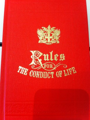 Rules for the Conduct of Life.