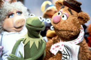 Fozzie Bear and Miss Piggy