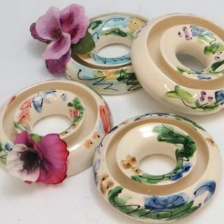 Celebration Pottery Jan Francoeur Pansy Ring