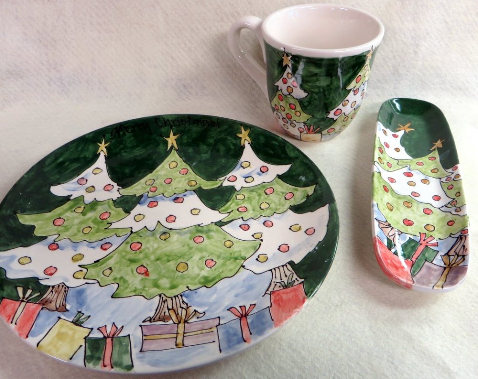 xmas pottery trees
