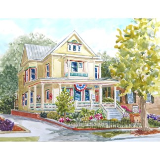 Hanna House BandB New Bern NC painting by Janet Francoeur