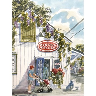 Old Town Bakery Key West painting by Janet Francoeur