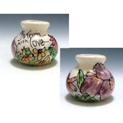 celebration pottery To mom with love vase
