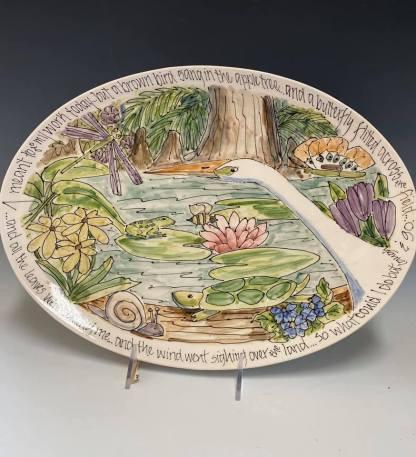 celebration pottery nature earth day platter