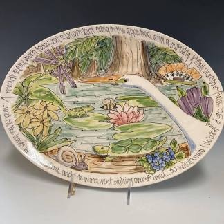celebration pottery nature earth day platter