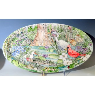 celebration pottery nature platter