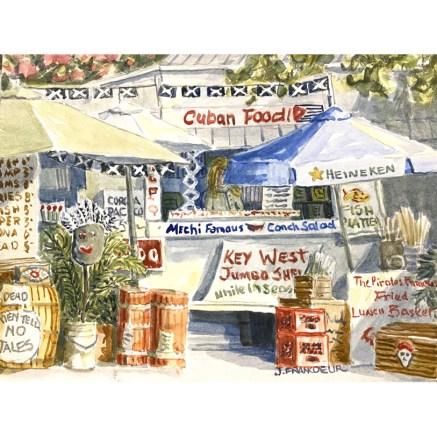 Jan Francoeur Key West Cuban Food watercolor