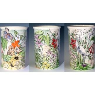 Celebration Pottery Nature Utensil Jar