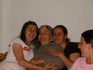 Soniya with her paternal babushka