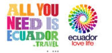 An advertising sign for Ecuador