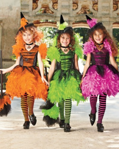 "Thanks to chasing-fireflies.com for this image of ""Neon Feather Witch costume for girls."" (Now just $19.97)"