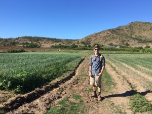 Who is this 17-year-old Spanish speaking young man standing amidst the fields of onions?