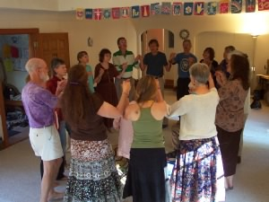people doing a Dance of Universal Peace