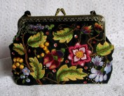 An embroidered handbag made by me, for the sheer pleasure of doing it! The design is by Susan O'Connor, of Australia